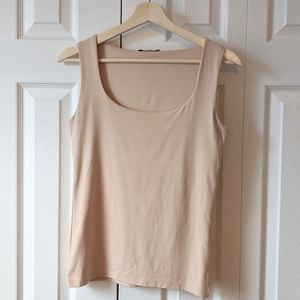 Zara W/B Collection nude Cami shell tank top M